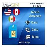 travSIM - Carta SIM prepagata Nord America (Stati Uniti, Canada e Messico) AT&T - Dati mobili 4G / LTE ILLIMITATO*, chiamate vocali locali e messaggi di testo validi per 10 giorni