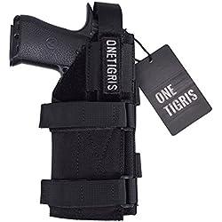 OneTigris L'étui à Pistolet Holster Molle Tactique en Nylon 1000D pour Airsoft (Noir)