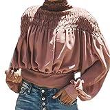 Damen Pulli Elegant Langarm T Shirt Ausschnitt V Druck Laterne Casual Oberteile Mode Marken Oversized Top Herbst Winter Sweatshirt Sports Jacket Hoodie Sweatjacke Kapuzenpullover