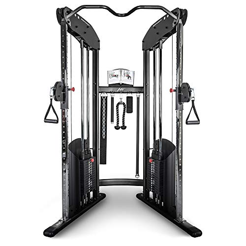 Ironcompany.com Bodycraft HFT Funktionelle Trainer Home Gym-Dual Verstellbar Riemenscheibe Maschine, HFT w/200 LB Stacks (Home Gym-organisation)