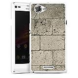 DeinDesign Sony Xperia L Hülle Case Handyhülle Beton Concrete Stone