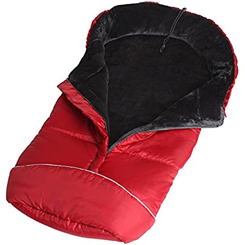 TecTake Saco de invierno dormir térmico para carrito silla de bebé universal abrigo polar rojo