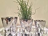 DRULINE 3er Set Keramik Vase BLOOM Silber Blumenvase Tischvase Dekovase Rund Deko