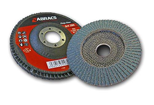 Abracs - Dischi a lamelle in ossido di alluminio, set da 5, 115 x 22 mm, 60 g