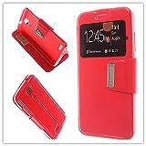 MISEMIYA Hüllen Taschen Schalen Skins Cover für Zopo Speed 7 (ZP951) - Hüllen, Cover View Unterstützung, Rot