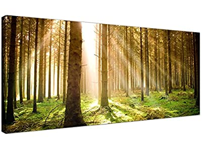 Modern Canvas Prints of Forest Trees for your Dining Room - Large Landscape Wall Art - 1042 - Wallfillers®