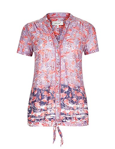 marks-and-spencer-ombre-flamingo-print-blouse-non-iron-top-womens-ms-summer-14