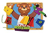 Enlarge toy image: Melissa & Doug Basic Skills Board and Puzzle - Wooden Educational Toy -  preschool activity for young kids