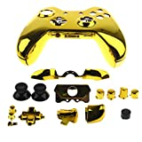 Sharplace Ersatz Joystick- Knöpfe Tasten Set mit Controller Schutzhülle Gehäuse Schutz Fall für Xbox One Elite Spielcontroller Videospiel Zubehör Set - Gold