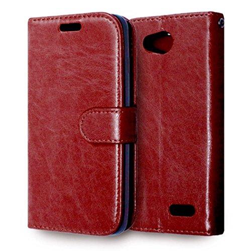 casefirst LG L90 Wallet Case, LG L90 Leather Case, Premium PU Leather Anti-Scratch Folio Stand Bumper Back Cover for LG L90 - Brown (Lg L90 Case Folio)
