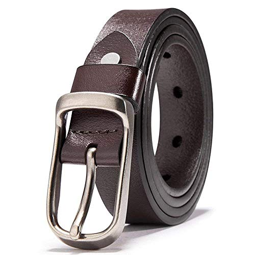 Cinturón De Cuero De Cuero Puro Para Cinturón Hombres Regalos Para Jóvenes Jóvenes Mareas Simples Gente Cintura Fashion (Color : Colour, Size : 130cm)