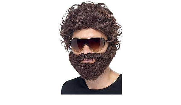 Parrucca Hangover JGA barba occhiali da sole addio celibato