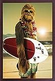 Star Wars - Chewie surfear Sports Póster de juguete con diseño de...