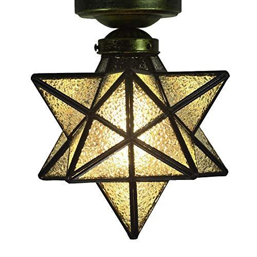 Star Kristall Glas Deckenleuchte Ceiling Light Lampenschirm Beleuchtungs Innenbeleuchtung Retro für Kinder das Bad Korridor Bar Schlafzimmer Restaurant Wohnzimmer Home Innenbeleuchtung Crystal 1