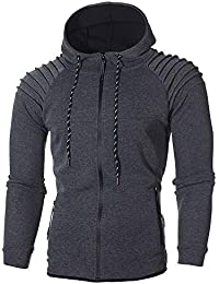ZIYOU Herren Sport Tracksuit Trainingsanzug,Männer Fitness Jogging Sportanzug Sweatshirt Top + Hosen Sets Herbst Winter