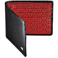 Dalvey Nero Portafoglio in pelle Erskine con motivo geometrico rosso