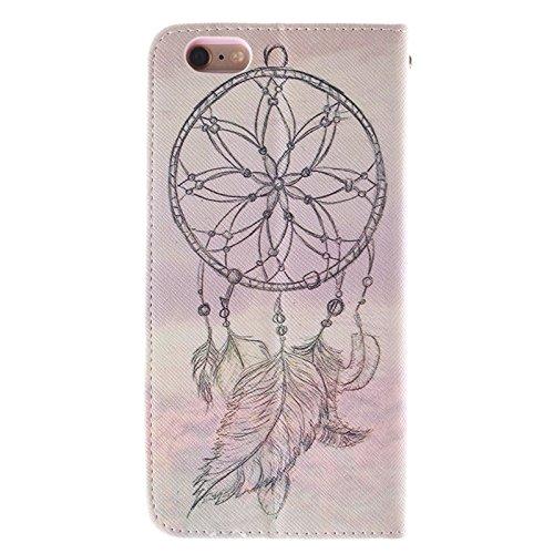 Phone case & Hülle Für iPhone 6 Plus / 6S Plus, National Windbell Cap Pattern Double Sided Print Ledertasche mit Halter & Card Slots & Wallet ( SKU : S-IP6P-0443D ) S-IP6P-0443G