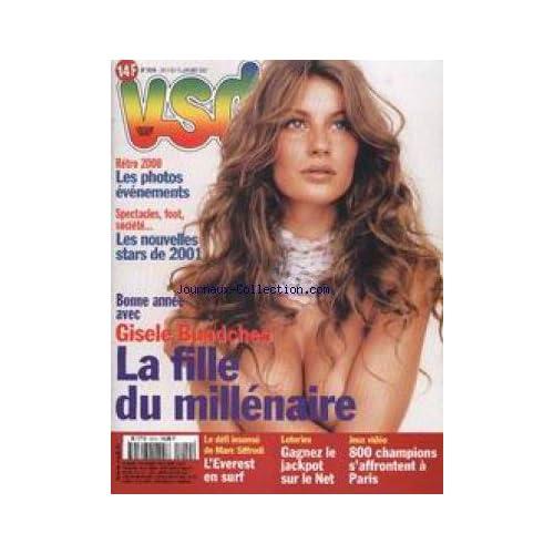 VSD [No 1219] du 04/01/2001 - GISELE BUNDCHEN - RETRO 2000 - LES NOUVELLES STARS DE 2001 - MARC SIFFREDI - JEUX VIDEO.