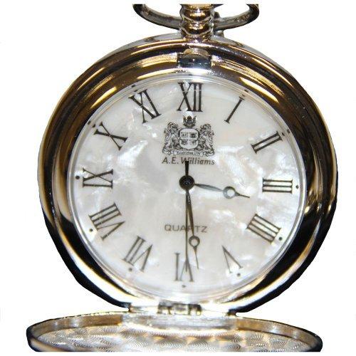 codice promozionale b60c7 b9de4 Argento meccanismo al quarzo orologio da taschino con madreperla viso