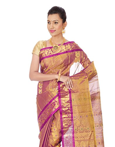 Mahaveer Designers Silk With Tissue Saree (Veera-6_Purple)