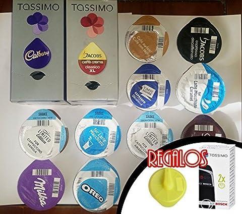 TASSIMO T-disc / Capsules, 37 FLAVOURS (46