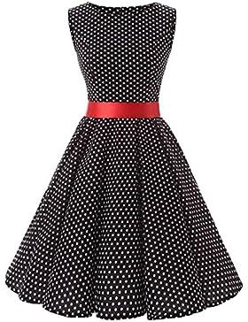 VKStar anni '50 e '60 vestiti rétro donne con fazzoletti abito da sera donna Rockabilly vestito da ballo