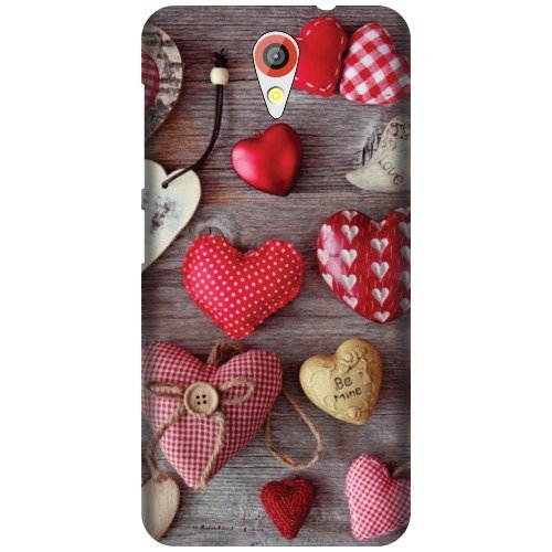 Printland Designer Back Cover For HTC Desire 620G - Cushion Heart Cases Cover