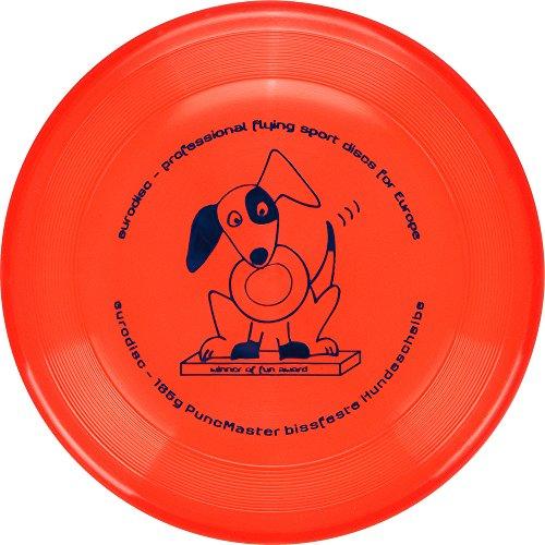 Eurodisc 135g Discdogging bissstarke Hunde Frisbee PuncMaster Fun Award ORANGE