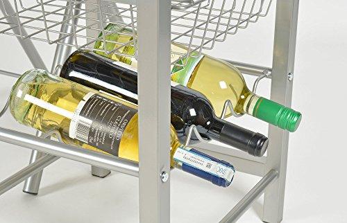 Ts ideen set 3 pezzi tavolo con 2 sgabelli in alluminio e mdf color