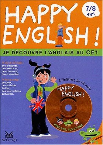 Happy english ! 7/8 ans. : Je découvre l'anglais au CE1, avec CD audio par Katy Najac, Anne-Rachel Serrain