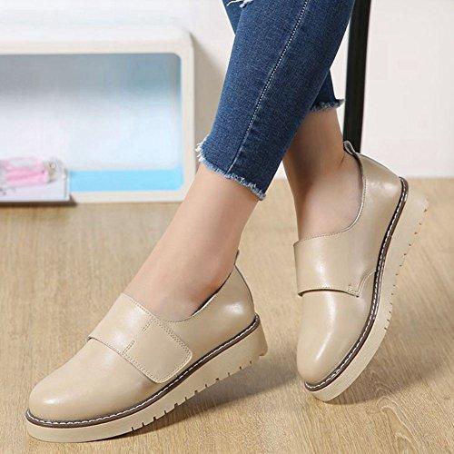 ... Beige Casual Mocassins Jrenok Femme Marcher De Plateforme Derbies 35 Mode  Chaussures Baskets Sneakers Ville Confortable ec77e89cefc3