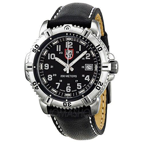 Luminox Luminox Colormark Negro/gris Dial Acero Negro Cuero Damas Reloj A.7251