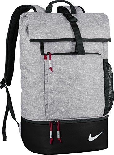 Nike Golf Sport Falt Top Rucksack (Einheitsgröße) (Silber/Schwarz/Gym Rot) (Nike Schuhe Tasche Golf)