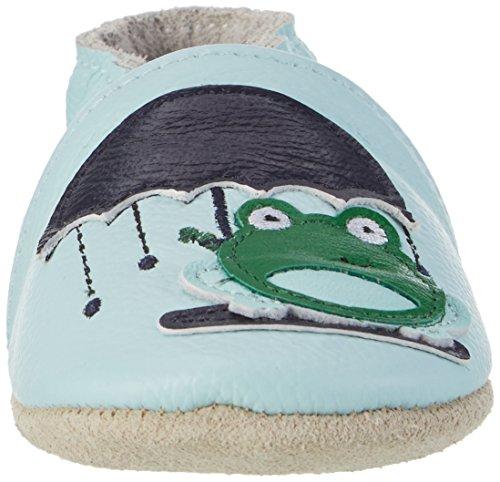 Rose & Chocolat Puddle Frog, Chaussons pour enfant bébé garçon Bleu
