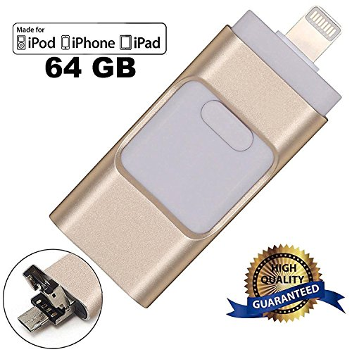 Ultra Flair 64 GB, Chiavetta USB 2.0 USB 3.0 Compatibile per Dispositivi IOS per PC Mac Iphone - Oro