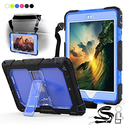 Junfire iPad Mini 4 Cover Hülle mit Ständer und Schultergurt, Komplettschutz Etui Outdoor Stoßfest Kinderfreundlich Case für iPad A1538/A1550