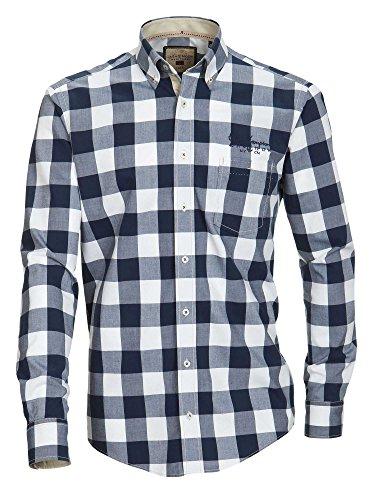 CASAMODA Herren Businesshemd 431681100 Casual Fit bügelleicht Blau