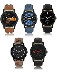 Swadesi Stuff Exclusive Premium Quality watch Combo of 5 watches for Boys & Men