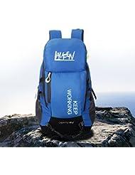 Uomo Trekking Zaini Correre Sport impermeabile Camping Hiking Outdoor escursionismo zaino 40L, Blau