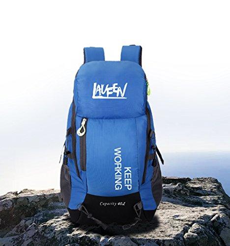 Herren Trekking Rucksäcke Laufen Sport Wasserdichter Camping Hiking Outdoor Freizeit Wanderrucksack 40L (Blau)