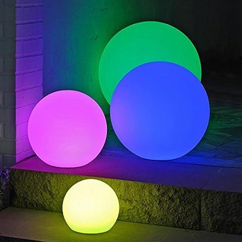 Canyonlands multifunktionale farbwechselnde Outdoor Akku LED Gartenleuchte Kugelleuchte in versch. Größen - 7 Farben -