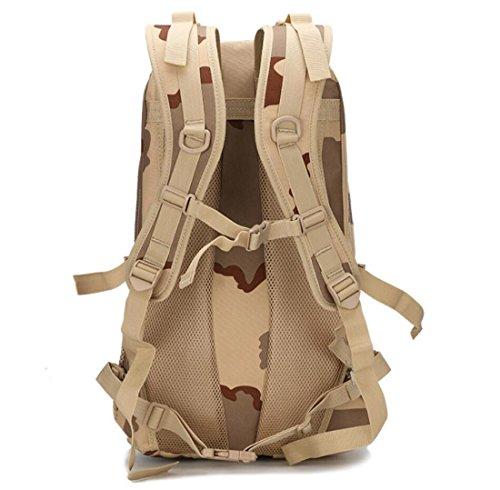 LF&F Backpack Camping outdoor Zaini Borse A piedi e arrampicata all'aperto svago indossare impermeabile comodo schiena respiratorio tattica Oxford tattiche 25L doppio zaino spalla A 25L A