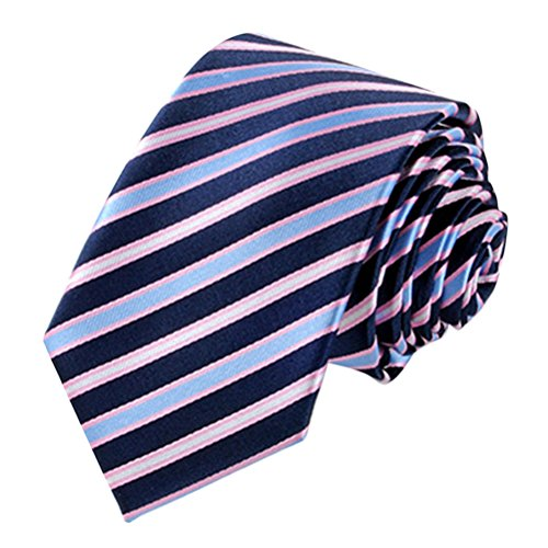 Zhhlinyuan Corbata Hombre roja blanca Multicolores Moda Clasica Elegant Tie 7cm Business Necktie for Men for Husband for Wedding Party - Perfect Gift Multi Patterned