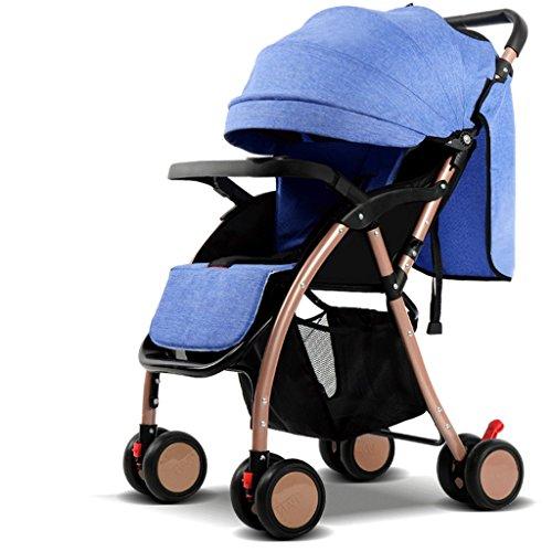 Fenfen passeggini per bambini leggeri portatili reversibili (blu) 58 * 48 * 100cm