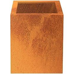 Palatino Exclusive Line Hochbeet/Pflanzkübel Clara aus Corten-Stahl 40 x 40, Tiefe 50 cm, Modular