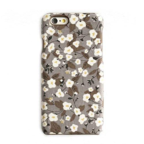 NUV Fall Kompatibel mit iPhone 6Case iPhone 6S Schutzhülle Anemone Floral Grau Weiß -