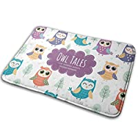 hdyefe Cute Owls Pattern Home Door Mat Super Absorbent Antislip Front Floor Mat,Soft Coral Memory Foam Carpet Bathroom Rubber Entrance Rugs for Indoor Outdoor fine 23362