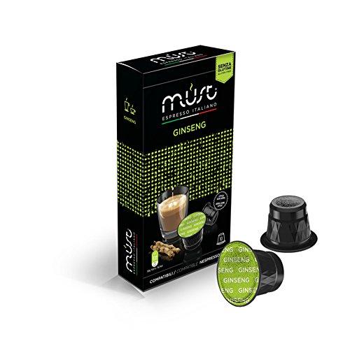 MUST ESPRESSO ITALIANO Ginseng 100 Nespresso Kompatible KaffeKapseln, 10er Pack (10 x 60 g) (Unternehmen Ginseng)