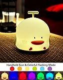 Nunen LED Nachtlicht mit 8 Beleuchtung Touch Schalter, USB Nachtlichter Nachttischlampen Mit Singen-Modus, Schlummerleuchten Stimmungslichter Nachtlicht mit farbwechsel Weiche Silikon Lampe für Kinder Baby Tisch Zimmer Schlafzimmer