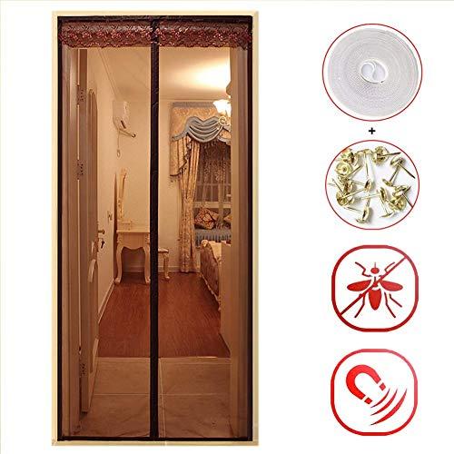 CCCSHUQ Porta zanzariera Magnetica 90x240cm 35'x94, Magnete Rete zanzariera con Gancio e Velcro per l'ingresso della Camera da Letto, automaticamente per Repellente per Insetti